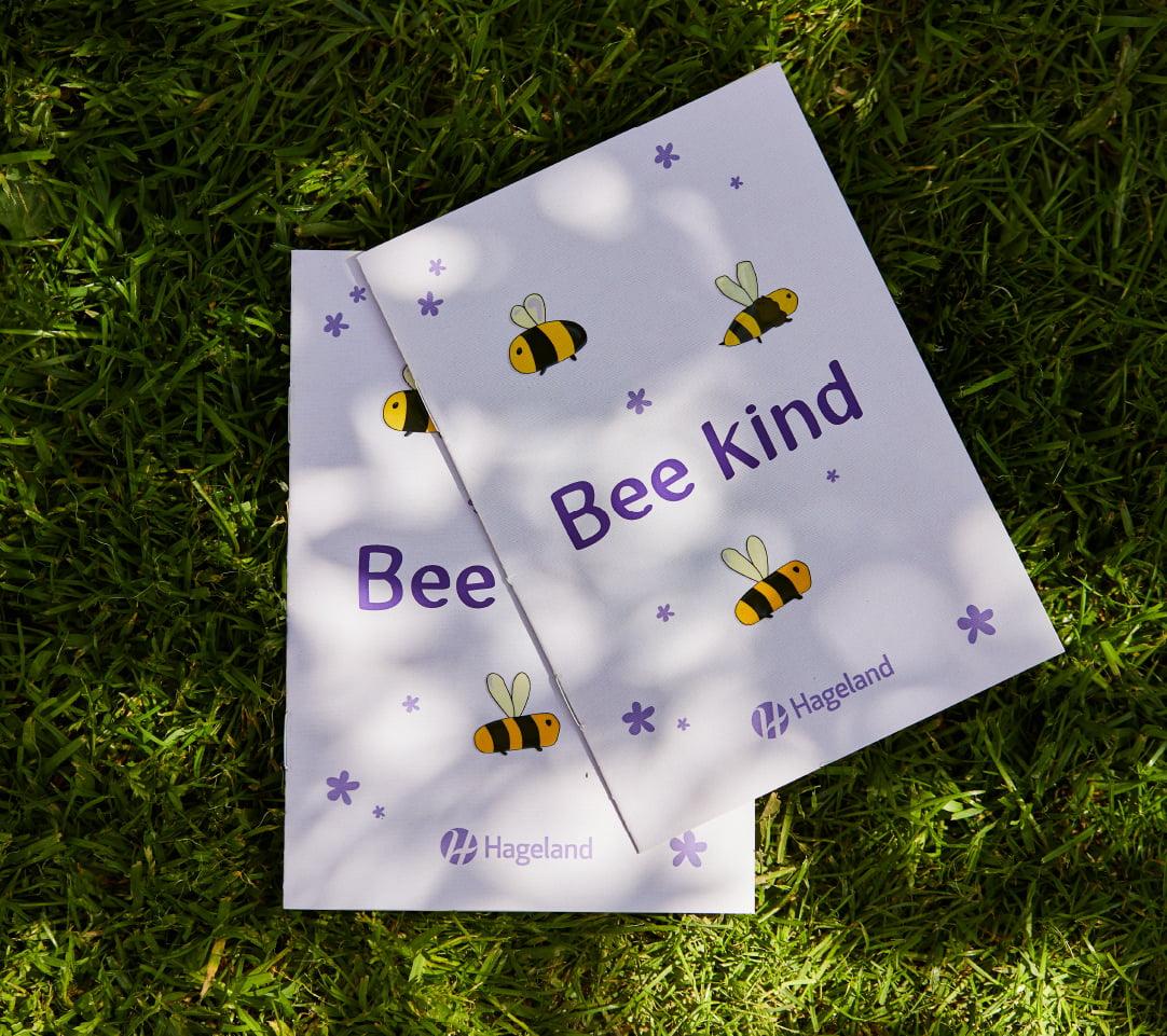 Bee Kind hageland kampanje laget av Fjuz magasin