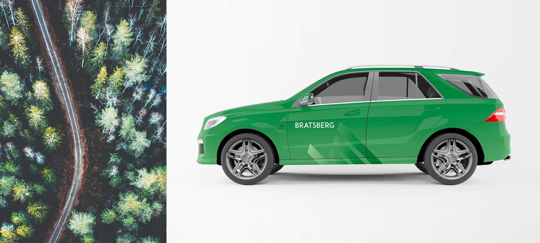 Fjuz kommunikasjon har laget Bratsberg profilbil