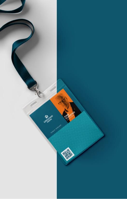 ID-kort Grenland Havn profil er laget av Fjuz