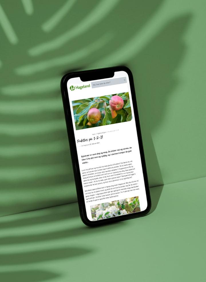 hageland-nettside sho´case mobil fra fjuz